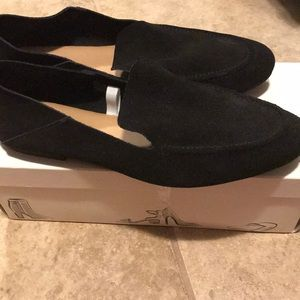 Black Suede Loafer Mules 9.5